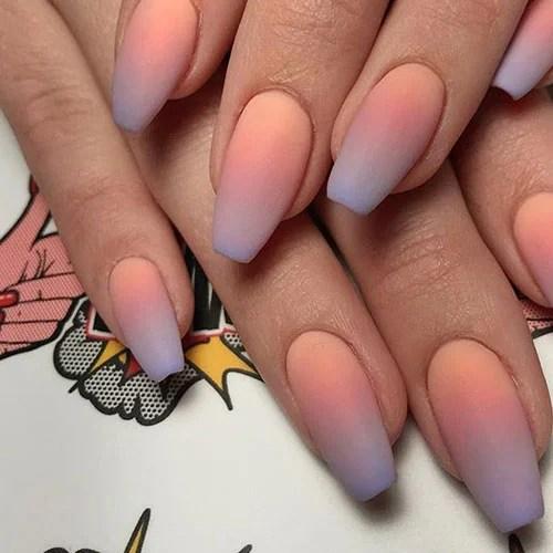 Peach Ombre Nails