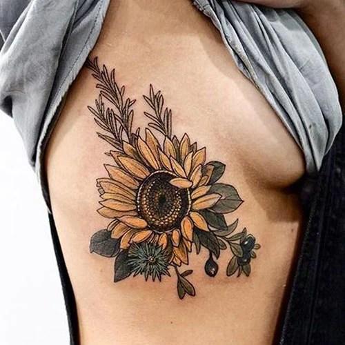 Realistic Sunflower Tattoo Ideas