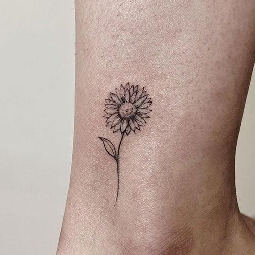 Simple Sunflower Tattoo
