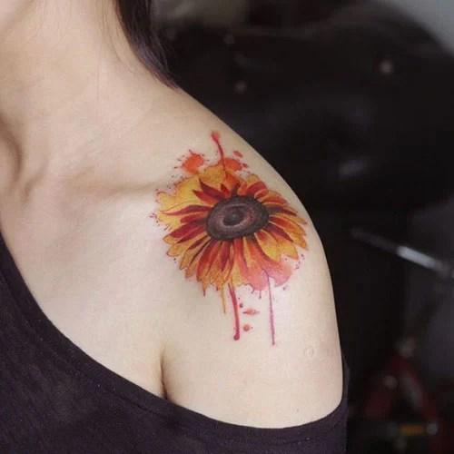 Sunflower On Shoulder