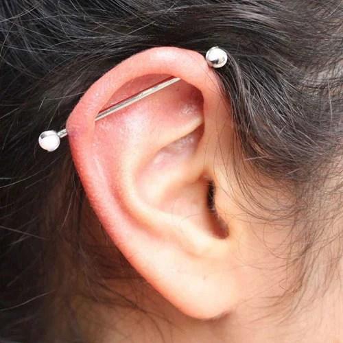 Cute Industrial Piercings