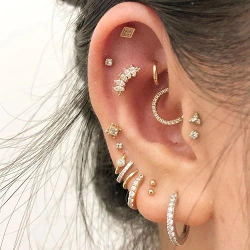 Unique Ear Piercings