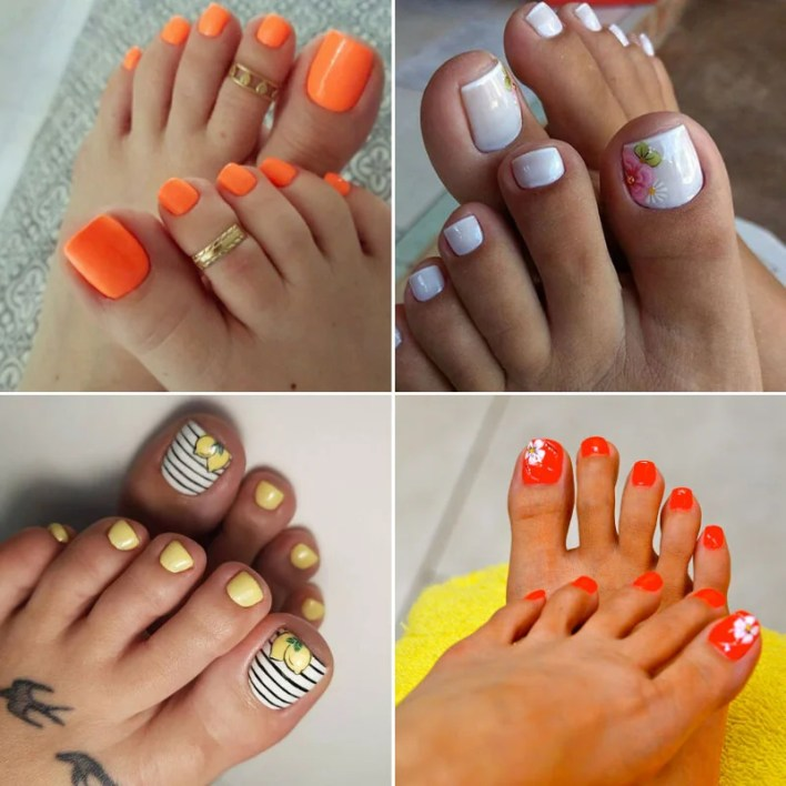 Cute Summer Toe Nail Colors and Ideas