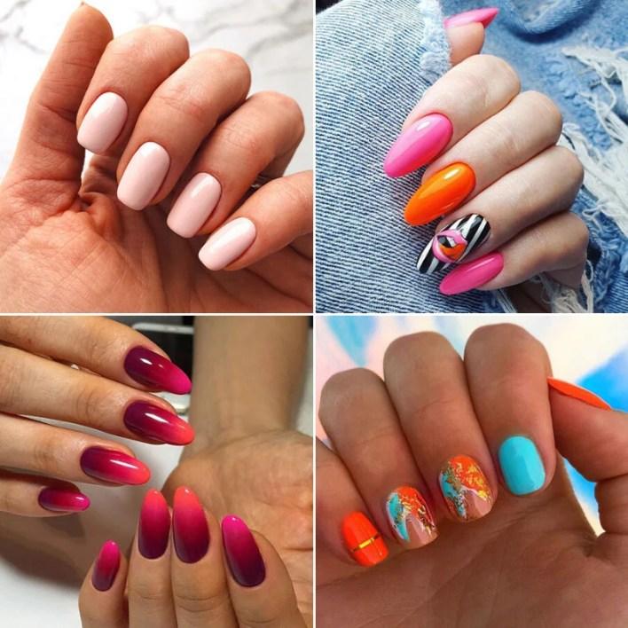 Summer Round Nails