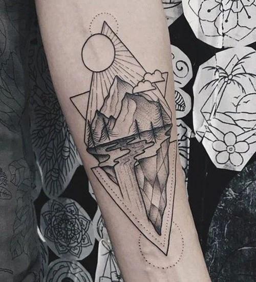 Geometric Forearm Tattoo