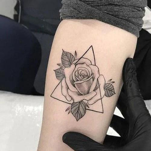 Rose Tattoo Ideas on Inner Arm