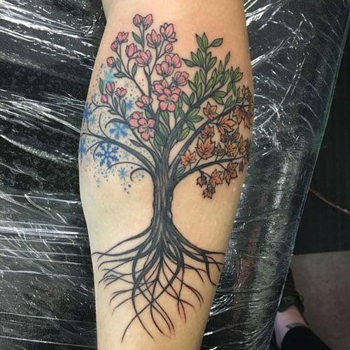 Tree Forearm Tattoo Women