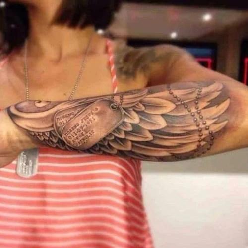 Wings Tattoo on Forearm