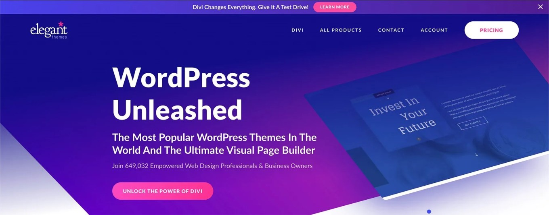 elegant themes wordpress