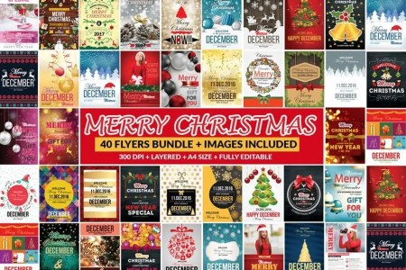 Festive Bundle of 66 Christmas Templates - All You Need For Holidays! -