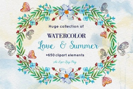 Download 650+ Watercolor Clip-Art Elements in Ai, EPS, PNG, JPG -