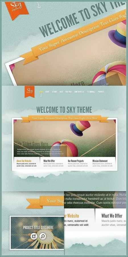 Download Sky Wordpress Theme - New ElegantTheme Masterpiece - Web Design