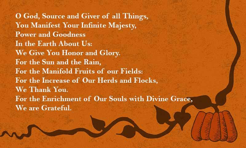 short thanksgiving prayer for god