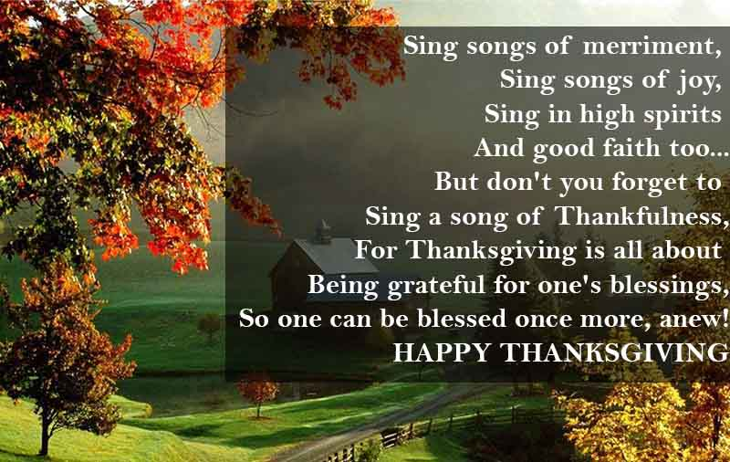 Thanksgiving Quotes Messages Wishes