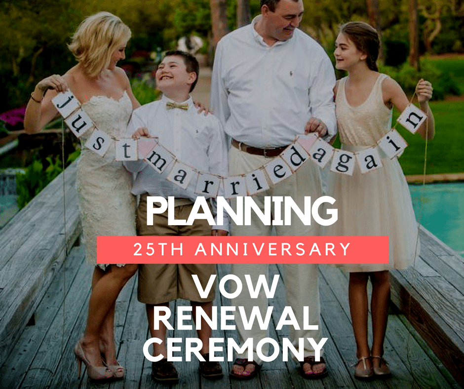Tips For Planning Your 25th Anniversary Vow Renewal Ceremony