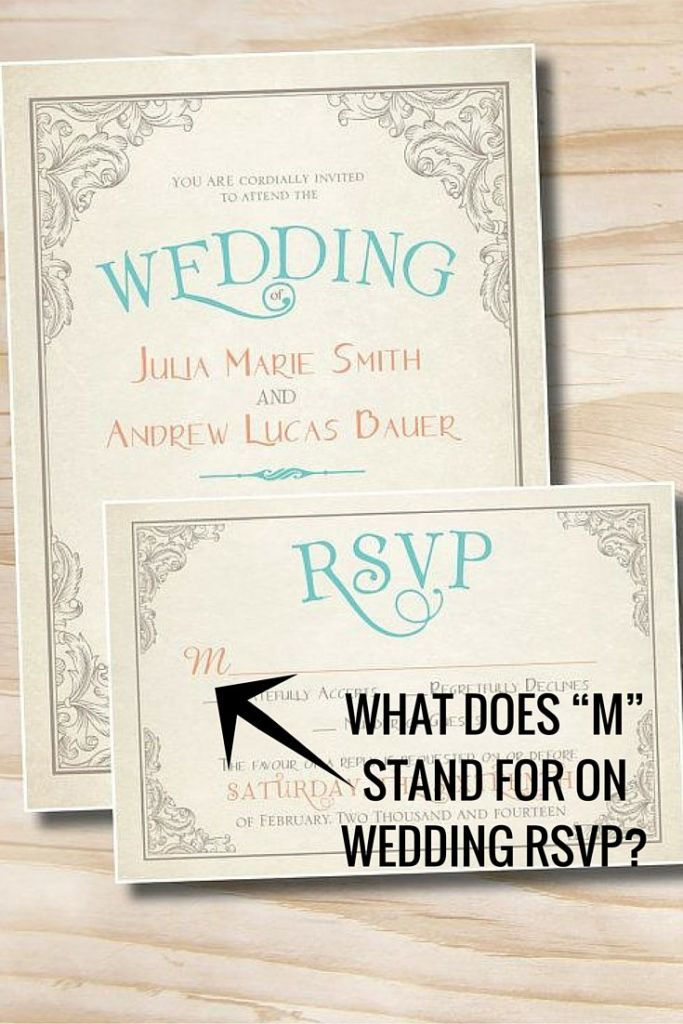 What Does M Stand For On Rsvp