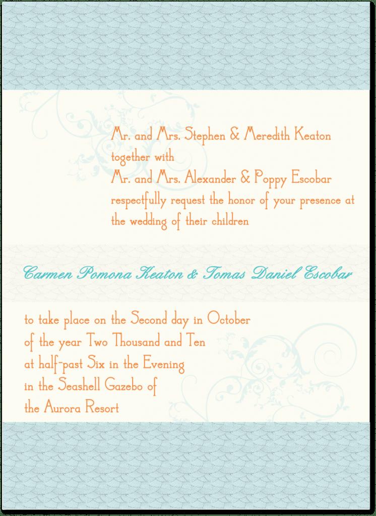 Aisle Say! Wedding Paper's Serendipity invitation