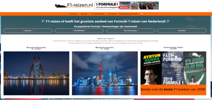 Formule 1 reizen korting