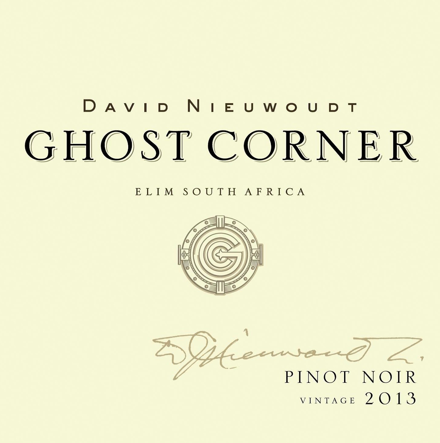 David Nieuwoudt Ghost Corner Sauvignon Blanc 2015 (Cederberg Private Cellar)