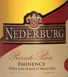 Nederburg Private Bin Eminence 2012