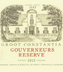 Groot Constantia Gouverneurs Reserve 2013