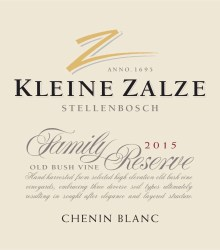 Kleine Zalze Family Reserve Chenin Blanc 2015