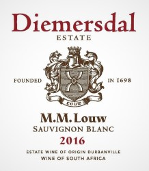Diemersdal MM Louw Sauvignon Blanc 2016