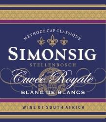 Simonsig Cuvee Royale Blanc de Blancs 2012