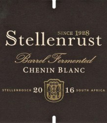 Stellenrust Barrel Fermented Chenin Blanc 2016