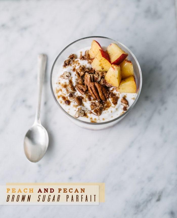 Peach and Pecan Brown Sugar Parfait