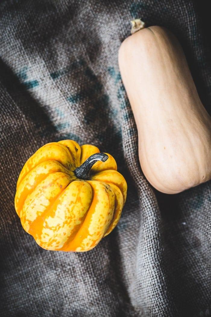 Caramelised Onion, Squash and Ricotta Tartines