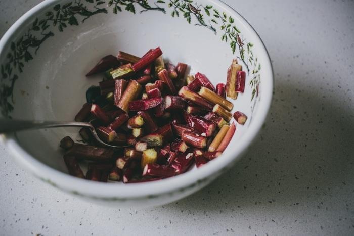 Rhubarb and Rye-Cinnamon Tartlets
