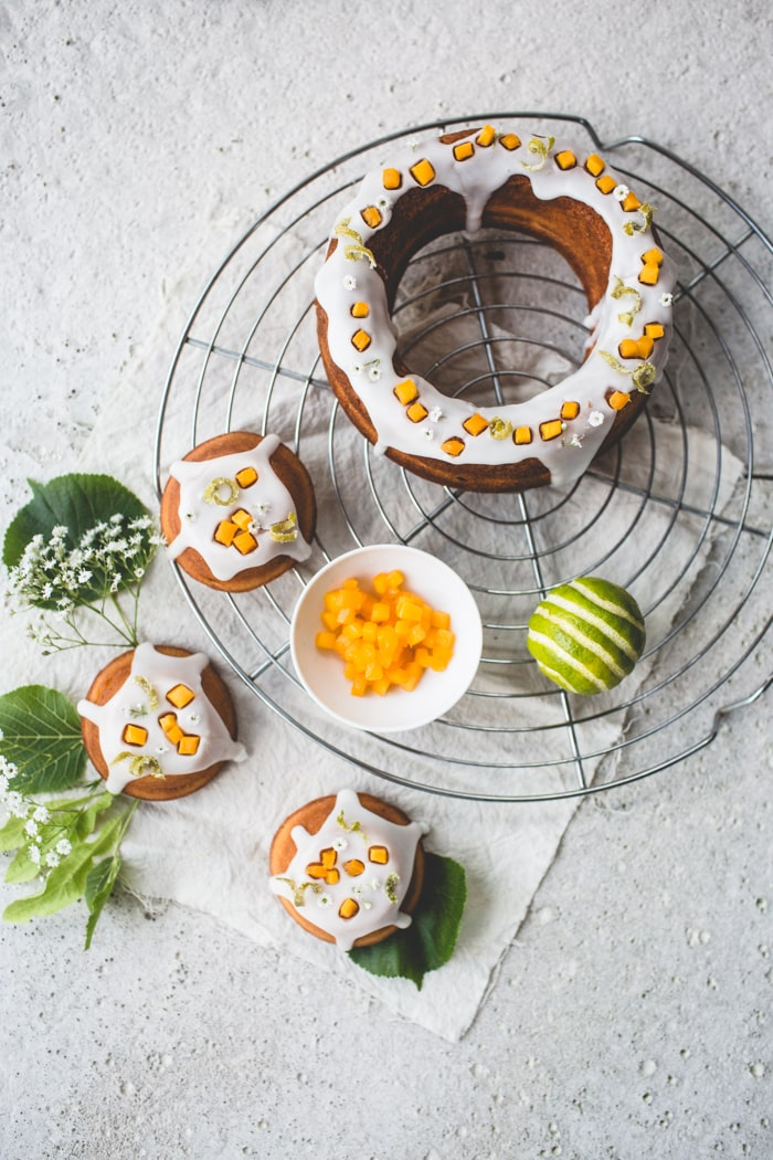 Elderflower, Lime and Mango Cakes 001