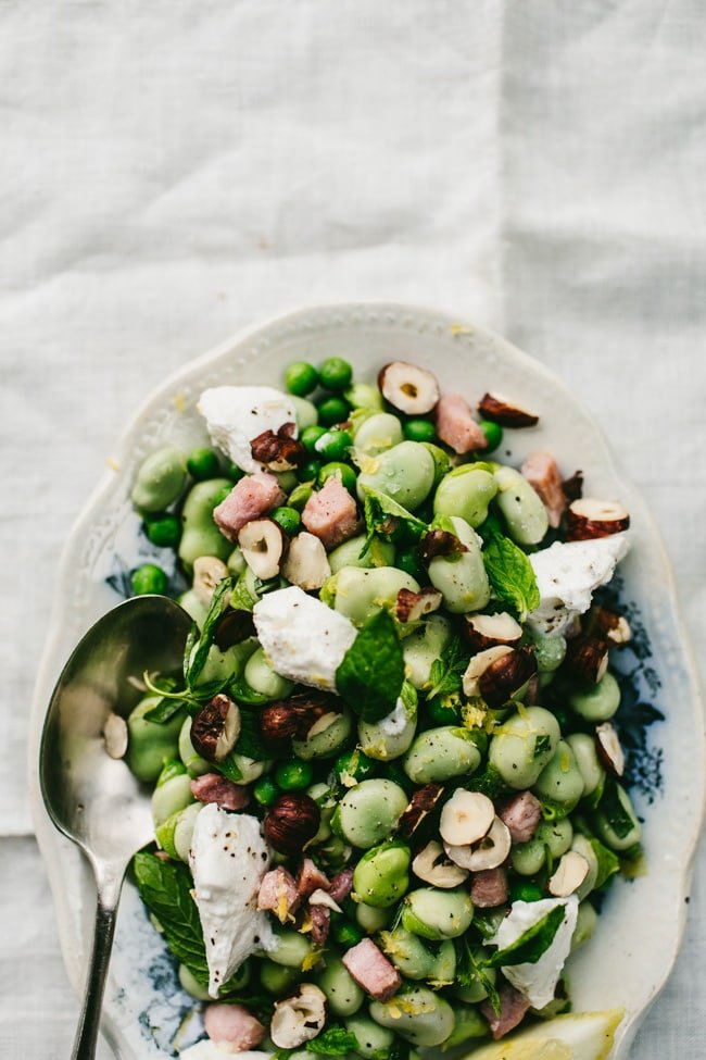 Broad Bean, Mint & Ricotta Salad-2