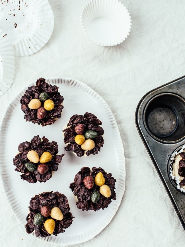 Easter Chocolate Peanut Butter Cheesecakes-56