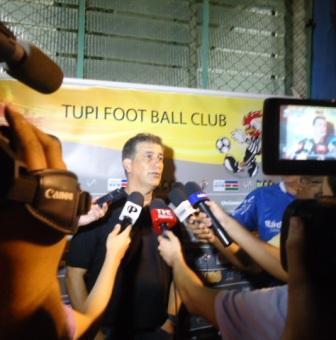 Ricardo Drubscky em sua vitoriosa passagem pelo Tupi (foto de arquivo Toque de Bola)