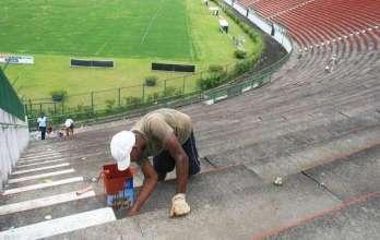 Estádio Mário Helênio recebe melhorias para jogos do Tupi