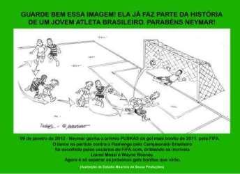 Gol de Neymar ganha ilustração de Maurício de Souza