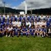 Jogadores e comissão técnica posaram para a foto com a medalha de campeão do interior
