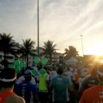 Sol presente no belo cenário da Maratona do Rio 2013.