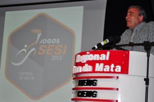 Professor José Antônio Bara Miguel agradece participação dos 2.500 atletas trabalhadores