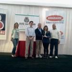 Na entrega da Taça Disciplina, o Prefeito Bruno Siqueira, o presidente da Liga de Futsal, Adilson Mattos, e o presidente do Panathlon Club Juiz de Fora, Juarez Venâncio