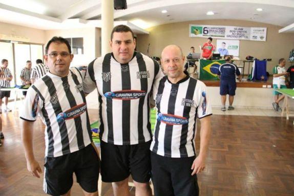 Hélio, Alex e Luiz, do Tupi