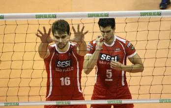 Superliga: Sesi-SP chega aos 28 pontos com 3 a 1 sobre o Minas