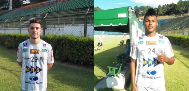 Sérgio Portugal (esquerda) e Lucas foram recentemente promovidos para o time profissional