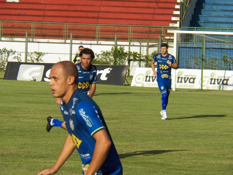 Maranhão (em primeiro plano), Bruno Barros (centro) e Wesley Ladeira devem estar a disposição de Léo Condé para o amistoso