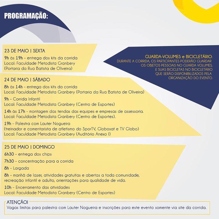 Programação completa do evento