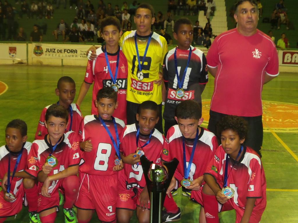 Sesi JF: campeão da Copa Prefeitura Bahamas de Futsal categoria