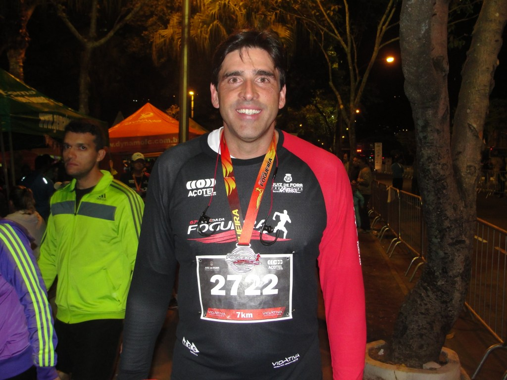 Giovane aprovou a oportunidade de correr na Avenida Rio Branco pela primeira vez