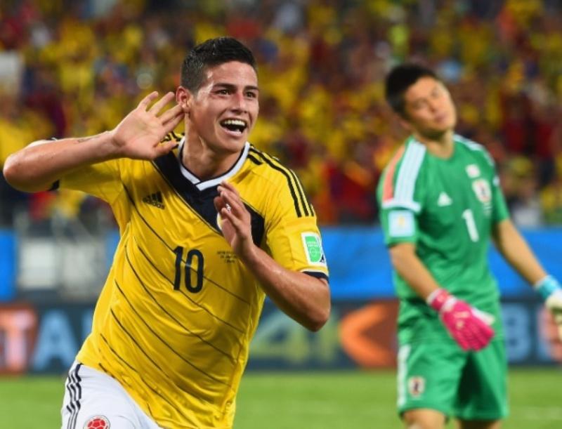 Meia colombiano James Rodríguez é artilheiro da Copa e uma das sensações da competição